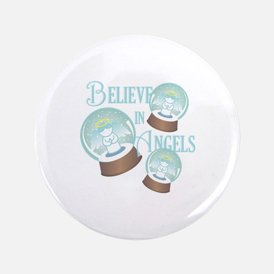 Believe In Angels Button