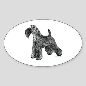 Kerry Blue Terrier Oval Sticker