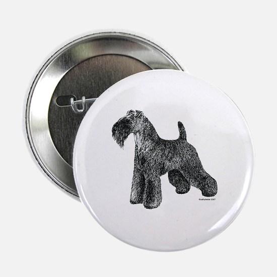 """Kerry Blue Terrier 2.25"""" Button"""