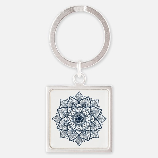 Unique Mandala Square Keychain