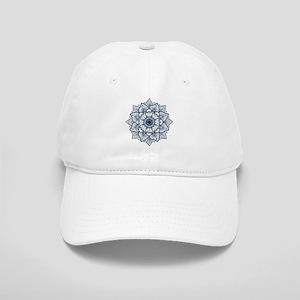 Dark Blue Floral Mandala Cap