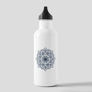 Dark Blue Floral Manda Stainless Water Bottle 1.0L