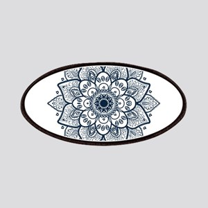 Dark Blue Floral Mandala Patch