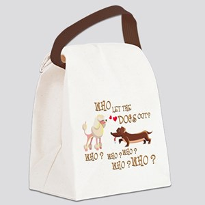 who let the dogs out?! Canvas Lunch Bag