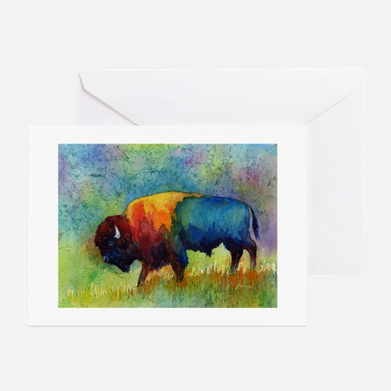 American Buffalo III Greeting Cards