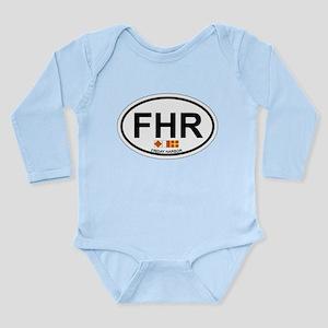 Friday Harbor. Long Sleeve Infant Bodysuit