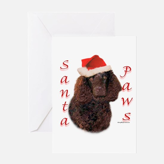 Water Spaniel Paws Greeting Card