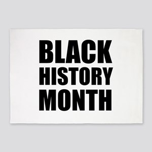 Black History Month 5'x7'Area Rug