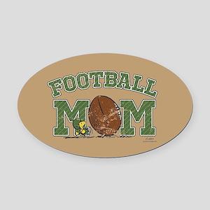 Peanuts Football Mom Full Bleed Oval Car Magnet
