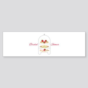 Bridal Shower Snacks Bumper Sticker