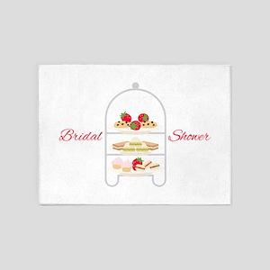 Bridal Shower Snacks 5'x7'Area Rug