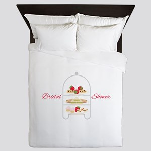Bridal Shower Snacks Queen Duvet