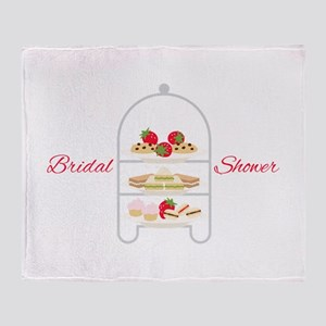 Bridal Shower Snacks Throw Blanket
