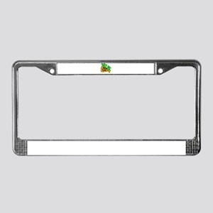 Bite me pizza License Plate Frame