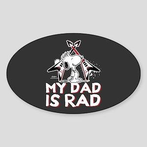 Snoopy - My Dad is Rad Full Bleed Sticker