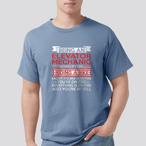 Being Elevator Mechanic Riding Bike Except T-Shirt