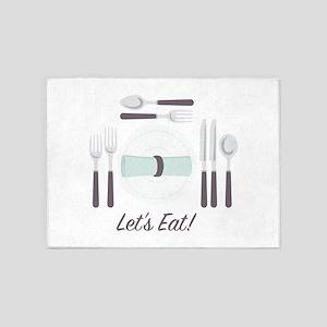Lets Eat! 5'x7'Area Rug