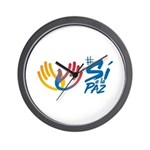 Si a la paz Colombia Wall Clock