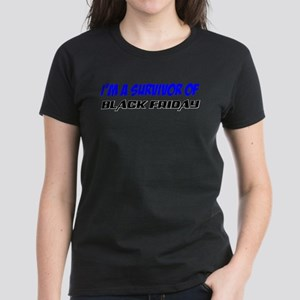 """Survivor of Black Friday"" Women's Dark T-Shirt"