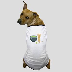 Matcha Green Tea Set Dog T-Shirt