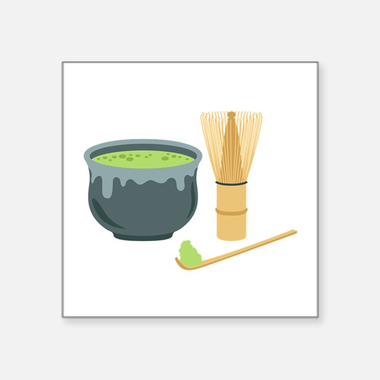 Matcha Green Tea Set Sticker