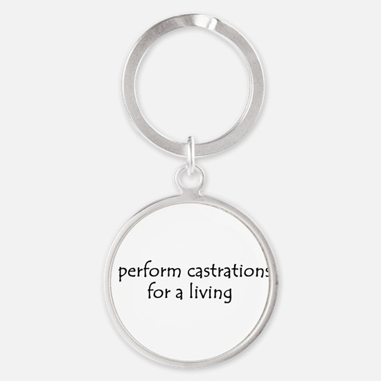 i perform castrations 10x3 Keychains