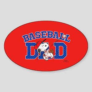Snoopy - Baseball Dad Full Bleed Sticker