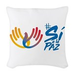 Si a la Paz en Colombia Woven Throw Pillow