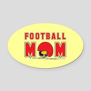 Woodstock Football Mom Full Bleed Oval Car Magnet