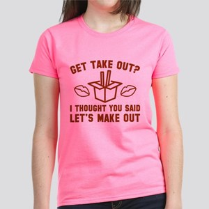 Get Take Out Women's Dark T-Shirt