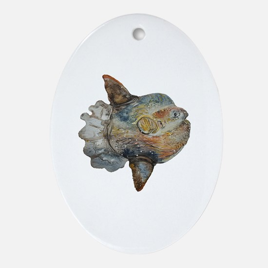 Cute Sunfish Oval Ornament