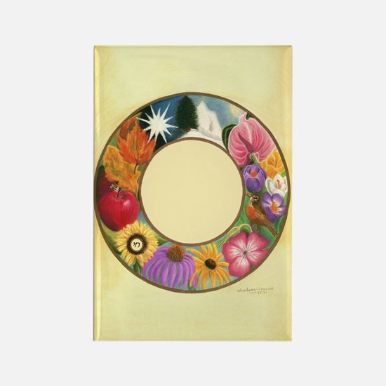 Ring of Seasons Rectangle Magnet