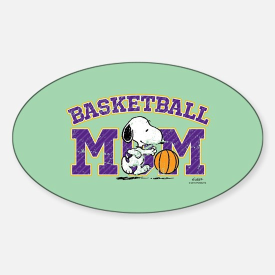 Snoopy Basketball Mom Full Bleed Decal
