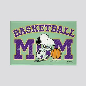 Snoopy Basketball Mom Full Bleed Magnets