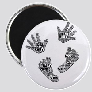 """Baby Coming Soon"" Hands and Feet Magnets"