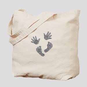 """""""Baby Coming Soon"""" Hands and Feet Tote Bag"""