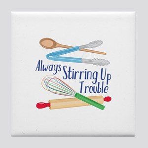 Stirring Up Trouble Tile Coaster
