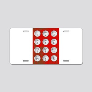 Numerical Code Buttons Aluminum License Plate