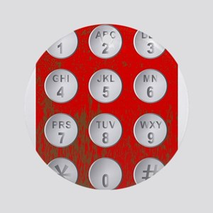 Numerical Code Buttons Round Ornament
