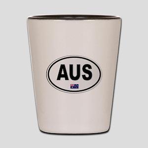 Australia AUS Plate Shot Glass