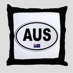 Australia AUS Plate Throw Pillow