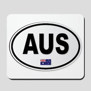 Australia AUS Plate Mousepad