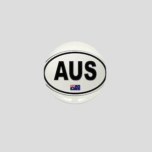 Australia AUS Plate Mini Button