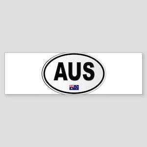 Australia AUS Plate Bumper Sticker