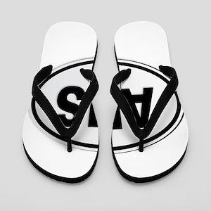 Australia AUS Plate Flip Flops