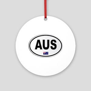 Australia AUS Plate Round Ornament