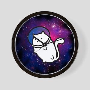 Fat Cat in Space Wall Clock