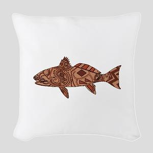 REDFISH Woven Throw Pillow