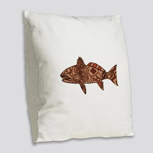 REDFISH Burlap Throw Pillow