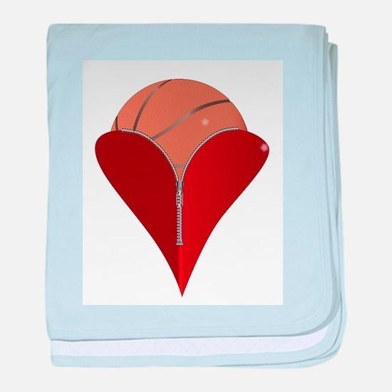 Love Basketball baby blanket
